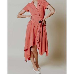 Chriselle x J.O.A asymmetrical dress